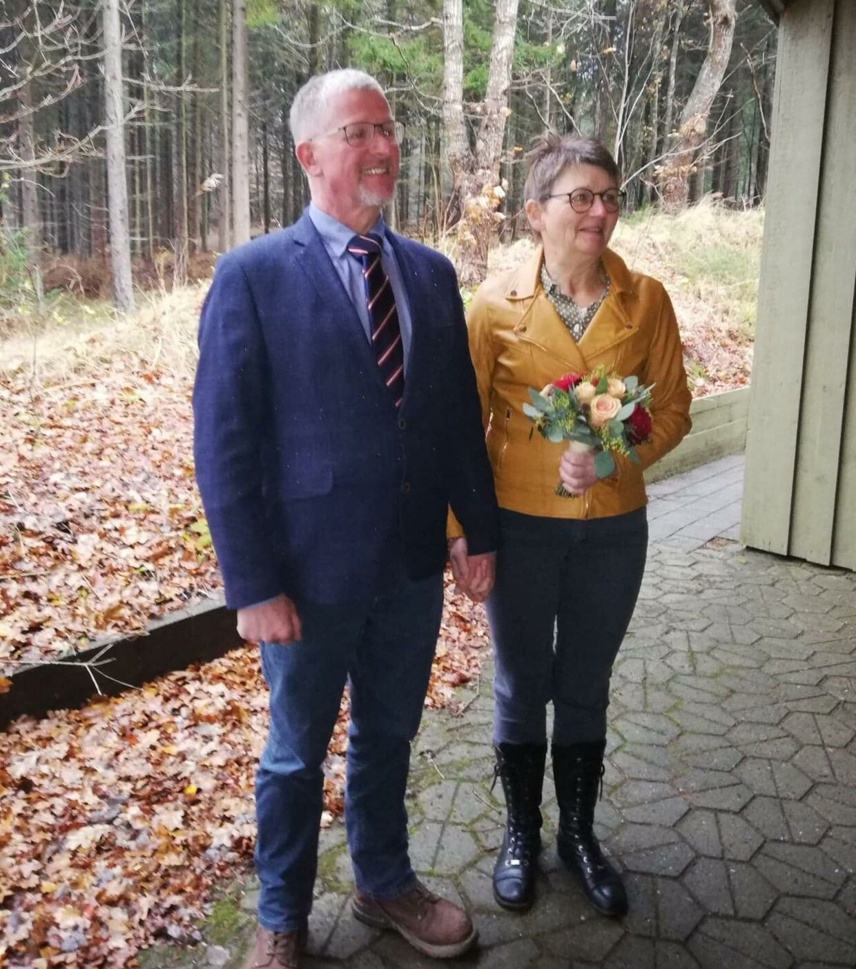 Henning og Margit under vielsen