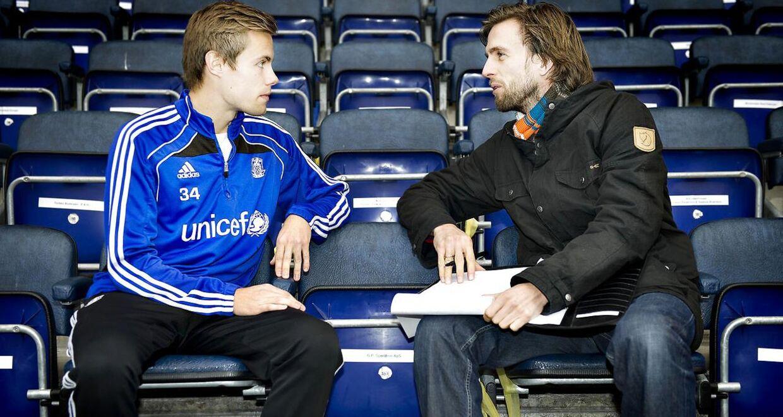 Christian Engell (th.), da han var mentaltræner i Brøndby IF.