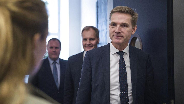 Kristian Thulesen Dahl, Morten Messerschmidt, Peter Skaarup, René Christensen og Martin Henriksen er blandt andet dem som er repræsenteret i partiets hovedbestyrelse. (Foto: Sarah Christine Nørgaard/Scanpix 2017)
