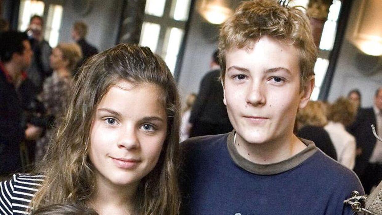 De unge skuespillere fra 'Jul i Valhal' i 2005.