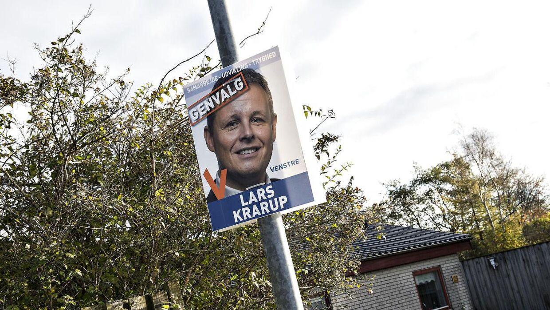 Valgplakaterne for Lars Krarup tilbage fra 2017 bliver de sidste for borgmesteren i denne omgang.