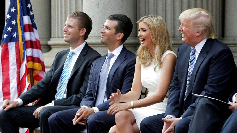 Trump har angiveligt undersøgt muligheden for at benåde sine egne børn, skriver avisen The New York Times. (Arkivfoto)