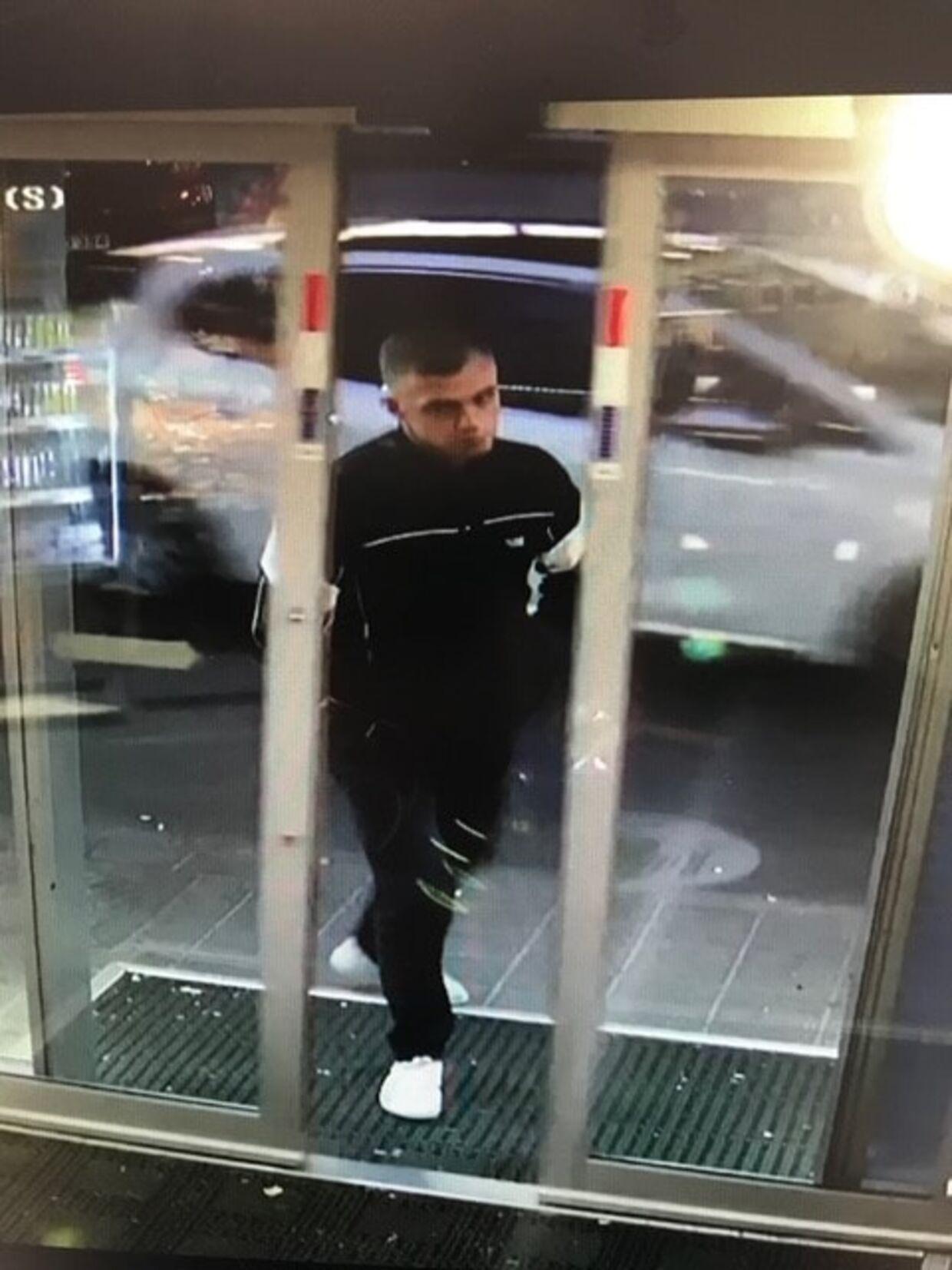 Her ses billedet af den mistænkte mand fra politiets efterforskning.