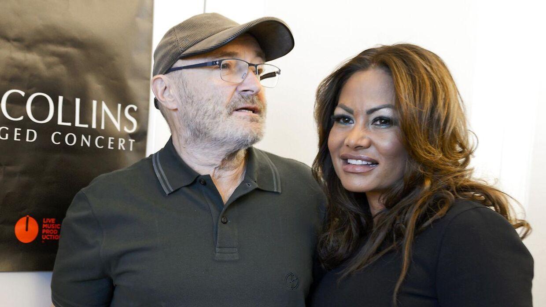 Phil Collins og ekskonen Orianne Collins.