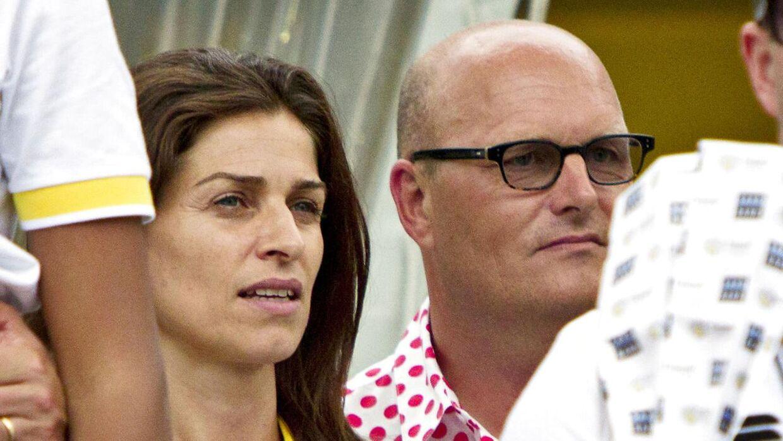 Anne Dorthe Tanderup og Bjarne Riis under Tour de France i 2014.