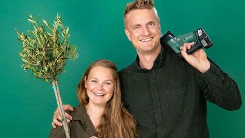 Trine Johannessen og Mikkel Carlsen arbejder begge som pædagoger, og så er de forældre til Saga på fire år.
