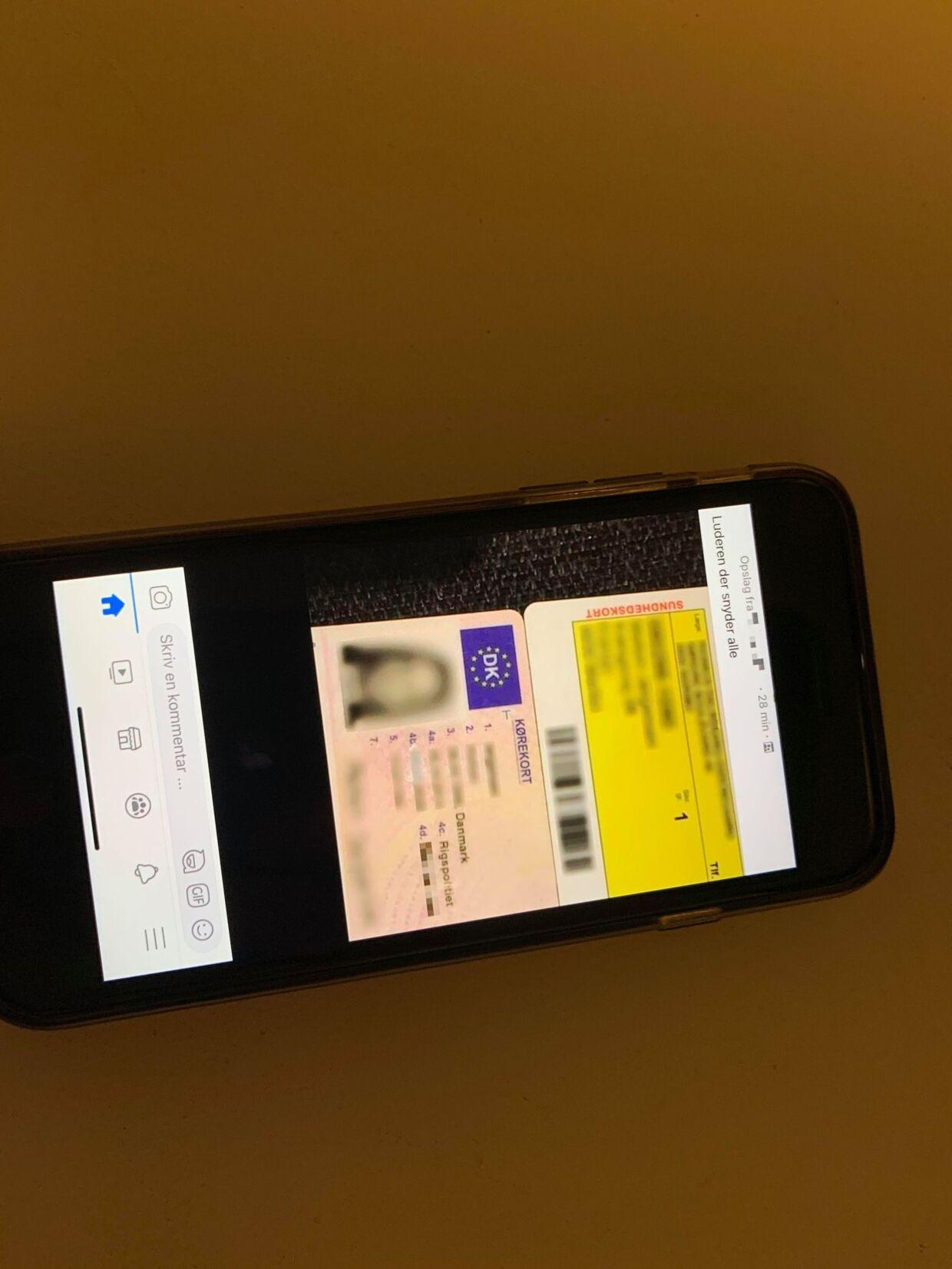 'Luderen, der snyder alle' har en formodet udlåner skrevet i et opslag med foto af personens kørekort og sygesikringskort. I forskellige Facebook-grupper deler udlånere oplysninger på dem, som ikke betaler deres lån tilbage.