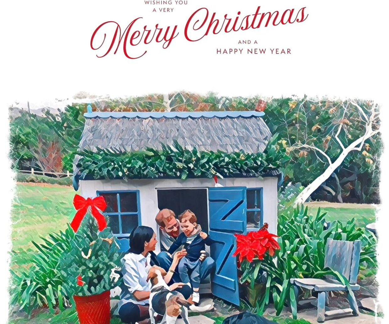 Det kan godt være, at Meghan og Harry har købt et dyrt britisk legehus til deres søn Arhie, som de har afbilledet på deres julekort ifølge britiske medier. Men det var ikke nok til, at de kom med i dronning Ellizabeths tale.