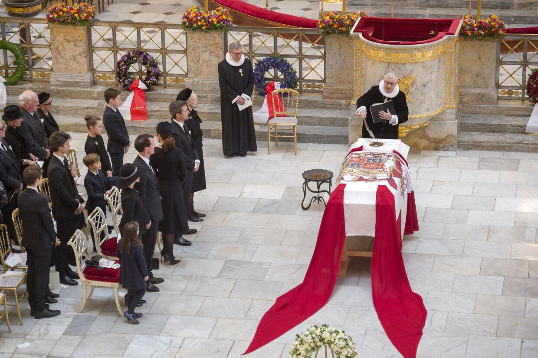 Prins Henrik blev bisat fra Christiansborg Slotskirke 20. februar 2018.