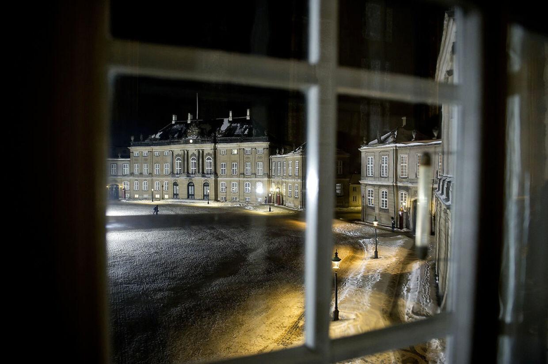 Så tomt ventes der at blive senere i dag på Amalienborg Slotsplads.