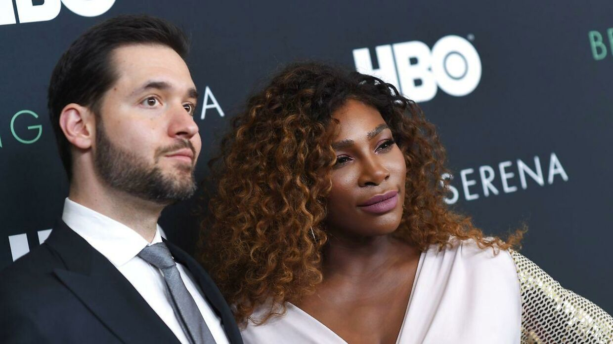 Alexis Ohanian og Serena Williams.