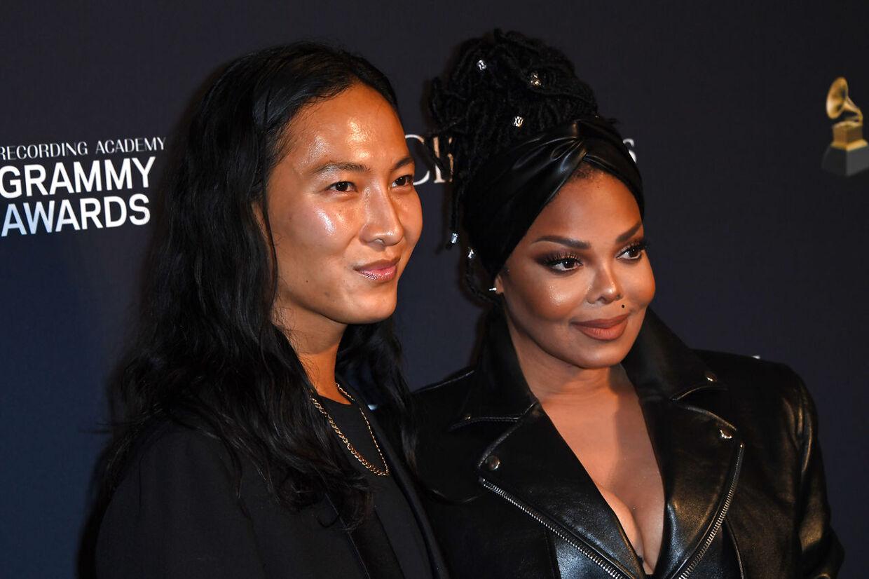 Her ses Alexander Wang sammen med sangerinden Janet Jackson i januar sidste år.