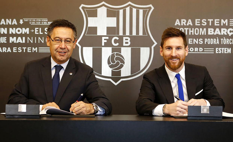 25. november 2017 skriver Lionel Messi under på en kontraktforlængelse under præsident Josep Bartomeu. Det er formentlig sidste gang, at argentineren og Barcelona fortsætter ægteskabet.