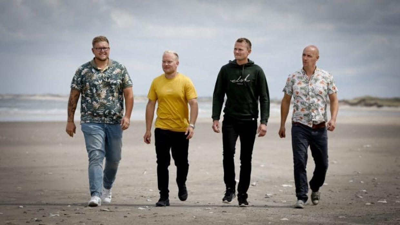 Mathias Hangaard, Christian Svaneborg, Jonas Larsen og Peder Damborg. 'Kærlighed hvor kragerne vender sæson 2.