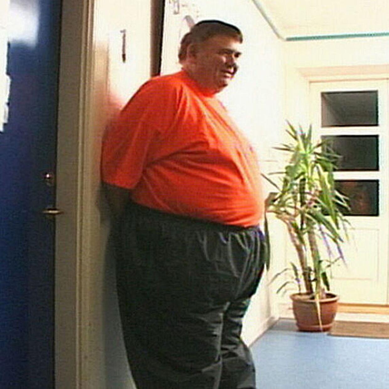 Allan Petersen vejede 162 kilo, da han begyndte på Ubberup Højskole. Foto TV 2