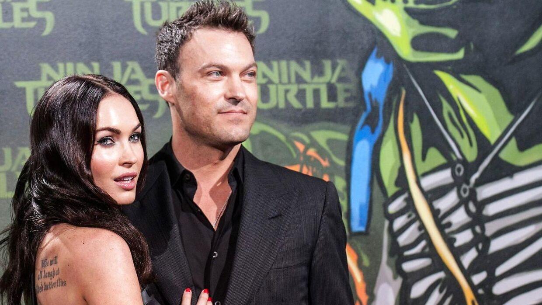 Arkivfoto af det tidligere ægtepar Brian Austin Green og Megan Fox.