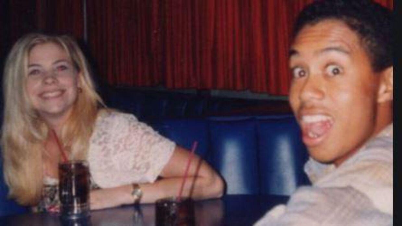 Dina Parr og Tiger Woods sammen i 1990'erne.