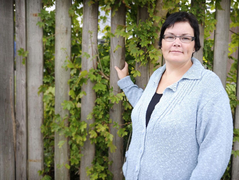 Merethe Kasten kmpede med vægten, da hun deltog i 'Livet er fedt'. Her ses hun nogle år efter.