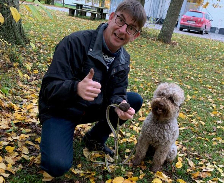 Партнерская пара Руне Рихтендорф и собака Асти нашли за один год больше трюфелей, чем за 100 лет до этого.  Фото: Руна Рихтендорф
