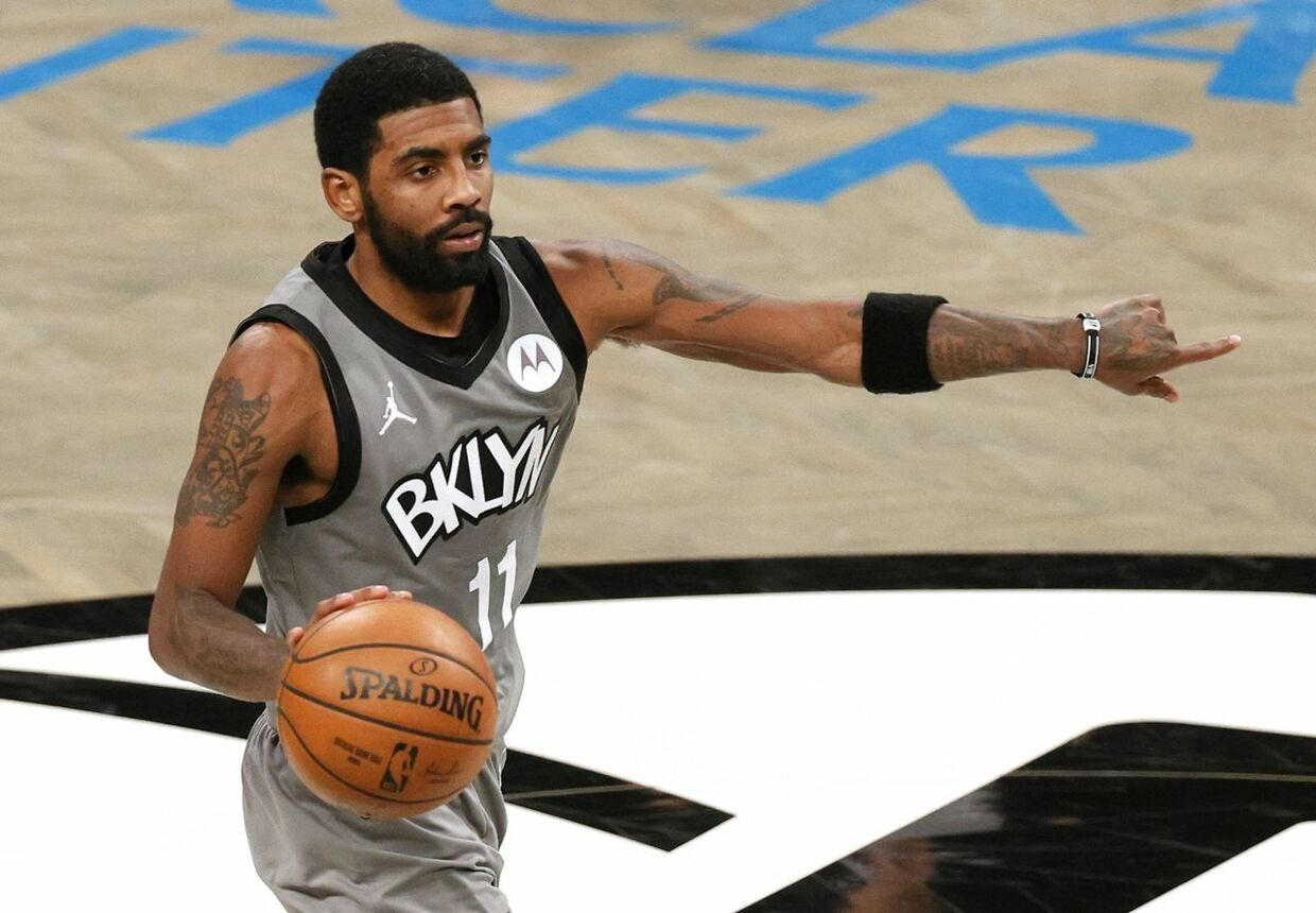 Kyrie Irving er i corona-problemer. (Sarah Stier/Getty Images/AFP)