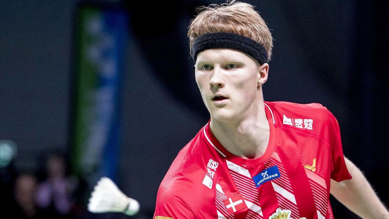 Anders Antonsen tabte første runde.