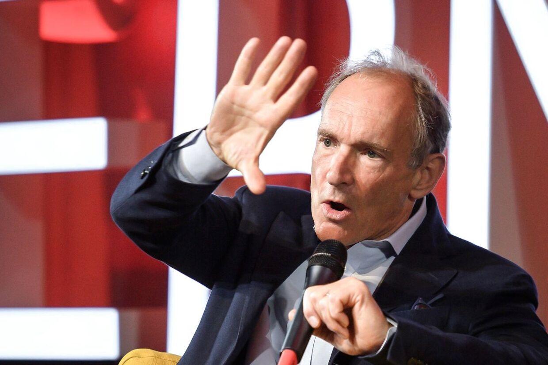 Opfinderen af World Wide Web. sir Tim Berners-Lee, ved 30-året for opfindelsen, den 12. marts 2019, i CERN i Meyrin nær Geneve, Schweiz.