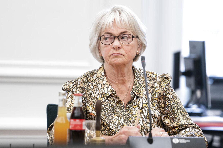 Pia Kjærsgaard (DF) til åbent samråd om nedlæggelse af Udlændinge Center Nordsjælland på Christiansborg, tirsdag den 18. februar 2020.. (Foto: Niels Christian Vilmann/Ritzau Scanpix)