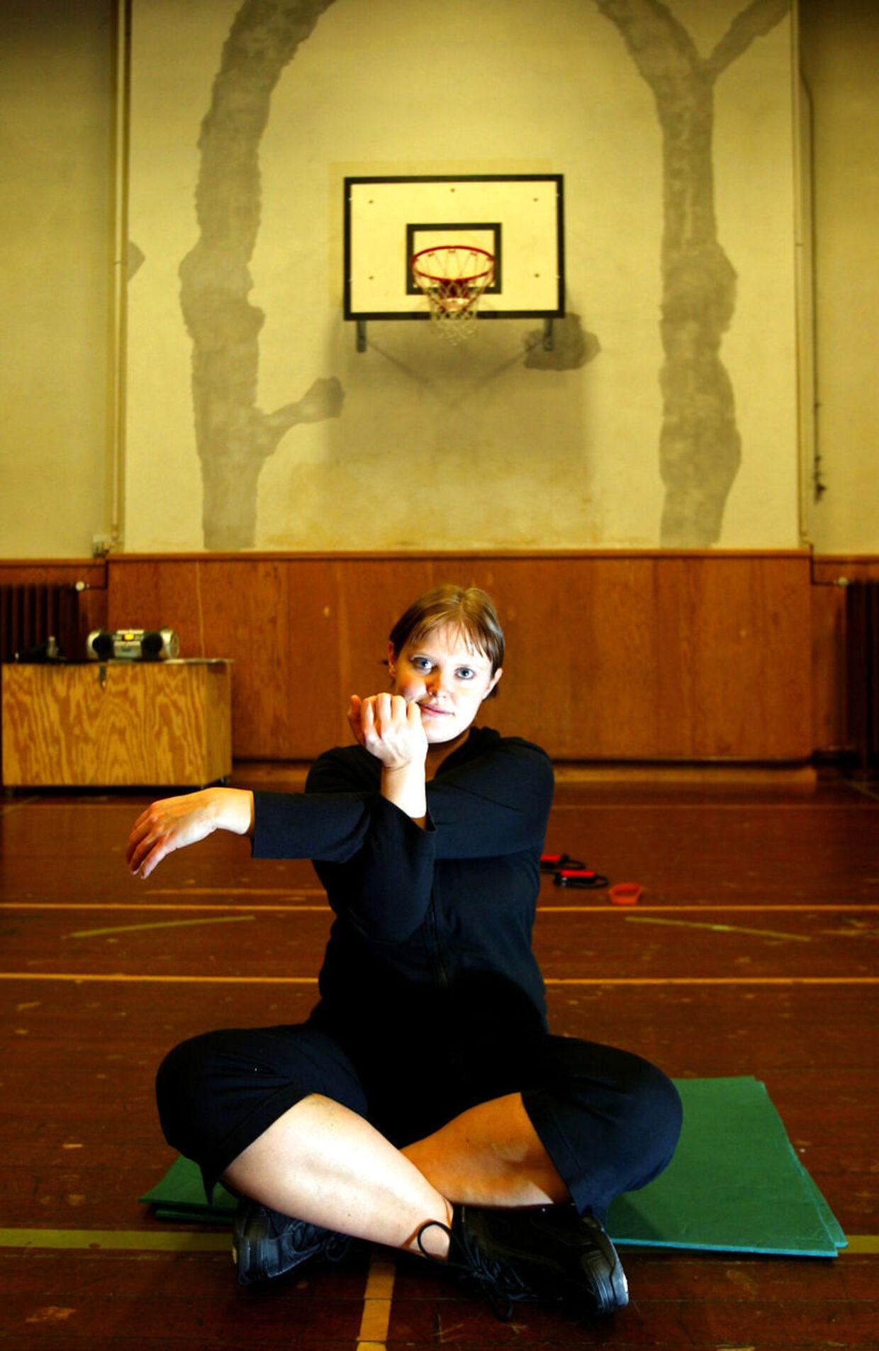 Line Hansen, da hun som 21-årig var på Ubberup Højskole for at tabe sig.Foto Ernest van Norde.