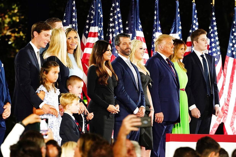 Familien Trump fotograferet under valgkampen sidste år. (Arkivfoto)