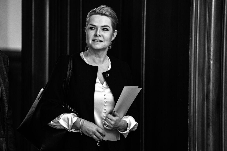 Inger Støjberg (V) skal for en rigsret. Det står fast, efter at alle partier i rød blok stemmer for. Emil Helms/Ritzau Scanpix