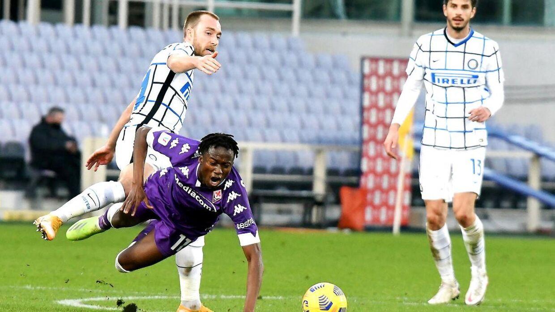 Eriksen spillede hele kampen mod Fiorentina, som endte i forlænget spilletid.