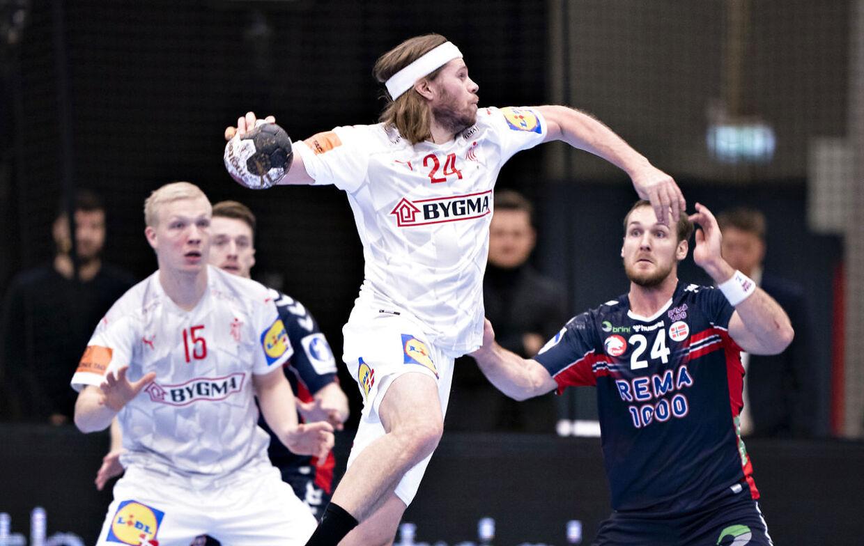 Mikkel Hansen og Danmark tabte 34-36 til Norge i en testkamp op til slutrunden i Egypten.
