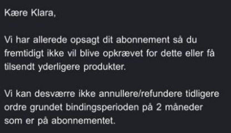 Adskillige kunder har fået en mail om, at de ikke kan få deres penge tilbage af Copenhagen Lashes.