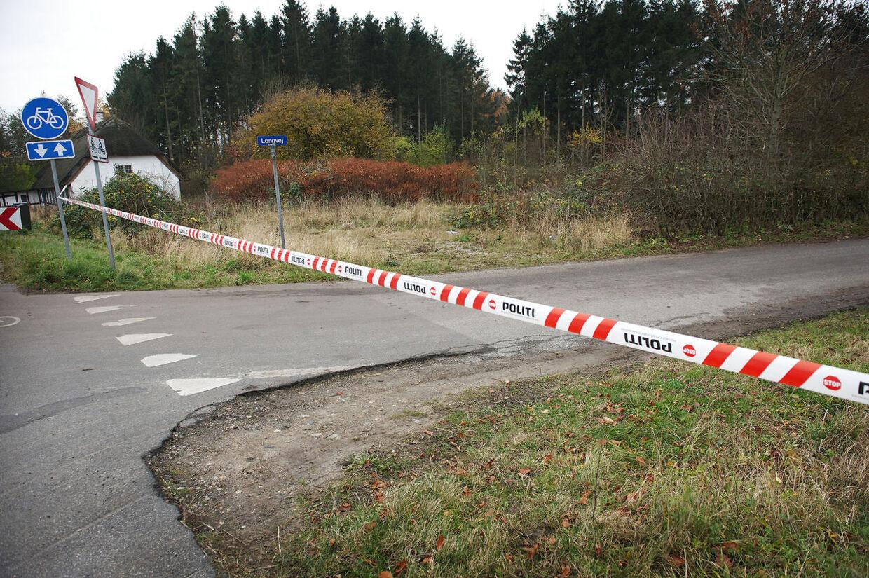 Det var her ved Longvej uden for Refsvindinge, at en 10-årige pige blev samlet op af sexkrænkeren i midten af november.