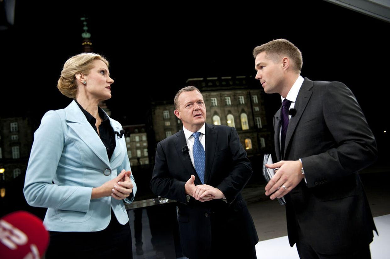 Thorning får I forbindelse med tv-debatten fik Thorning lov til at skyde på Løkke i netop sagen om overbetaling af privathospitalerne og mail-gate efter tv-værten Johannes Langkilde havde taget sagen op, men skatte-sagen blev aldrig et tema.