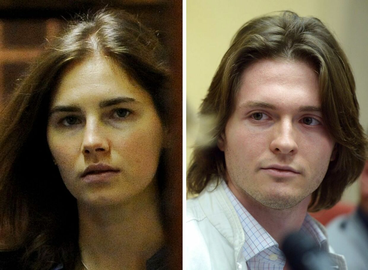 Her ses 'Foxy Knoxy' og Rafaelle Sollecito