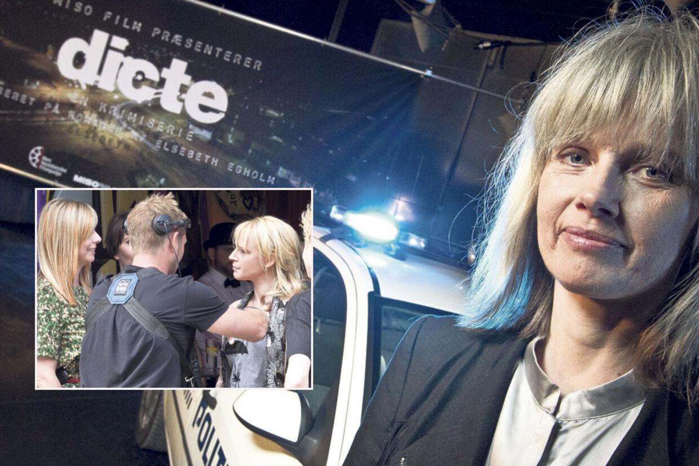 Elsebeth Egholm er glad for valget af Iben Hjejle til hovedrollen som Dicte i filmatiseringen af hendes populære krimiromaner til tv-serien 'Dicte' på TV2.
