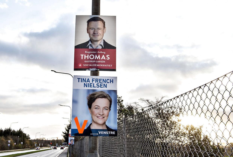 Skolerådmand og tidligere borgmesterkandidat i Aalborg, Tina French Nielsen (V), her på en plakat ved seneste kommunalvalg, trækker sig helt ud af politik, efter familiens ejendom er gået konkurs.