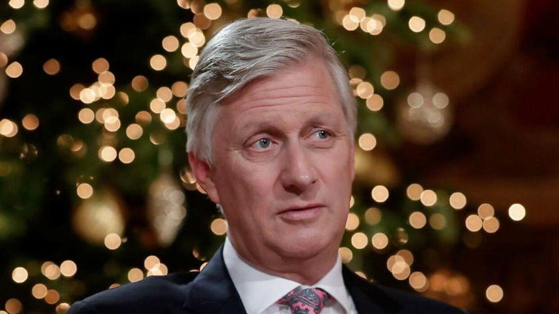 Kong Philippe fotograferet i forbindelse med sin juletale i 2020.