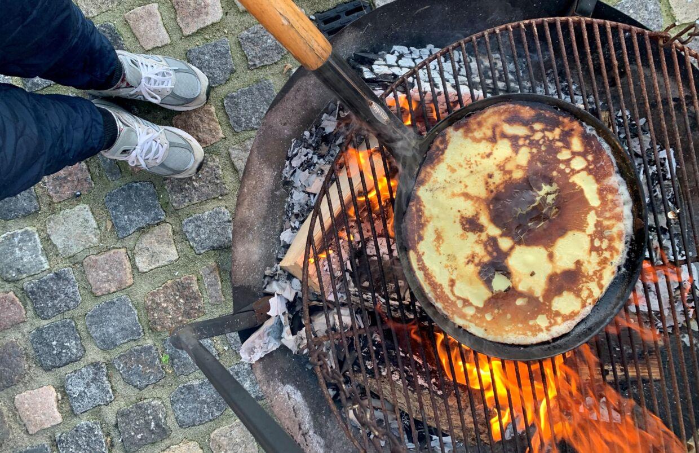 Stenalderfjernsynet kan også bruges til at bage pandekager på.