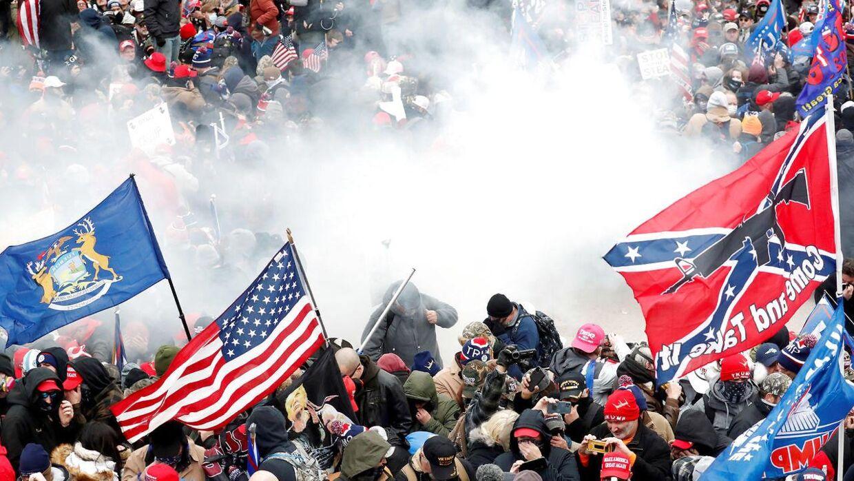 Demonstranterne var Trump-støtter, og der var rigtig mange af dem.
