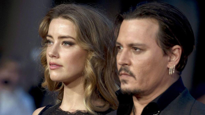 Arkivfoto fra dengang Johnny Depp og Amber Heard stadig var gift. Parret mødtes, da de spillede over for hinanden i filmen 'Rum Diary'.