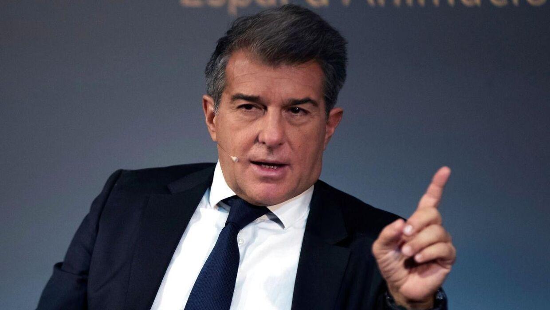 Præsidentkandidat Joan Laporta er favorit til at overtage posten i den pressede spanske storklub.