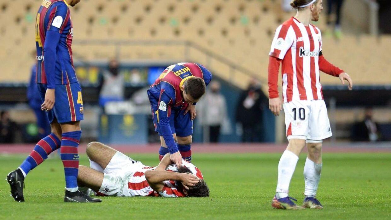 Messi fik rødt kort for første gang i Barcelona-karrieren.