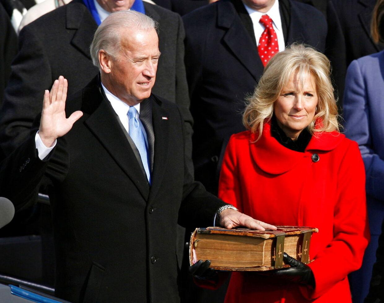 Jill og Joe Biden, da han i januar 2009 blev taget i ed som amerikansk vicepræsident.