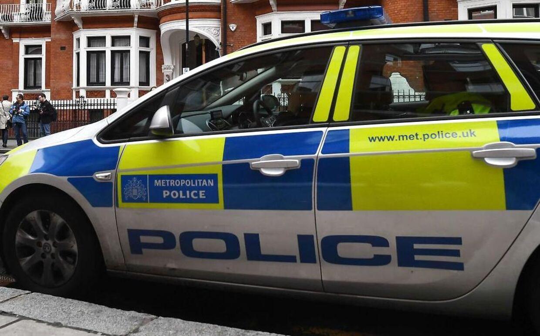 Eb politibil fra Londons Metropolitan Police.