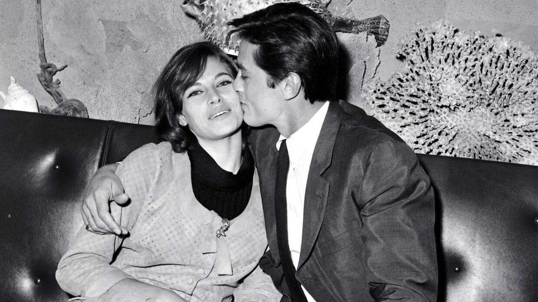 Arkivfoto af Nathalie Delon med eksmanden, skuespilleren Alain Delon.