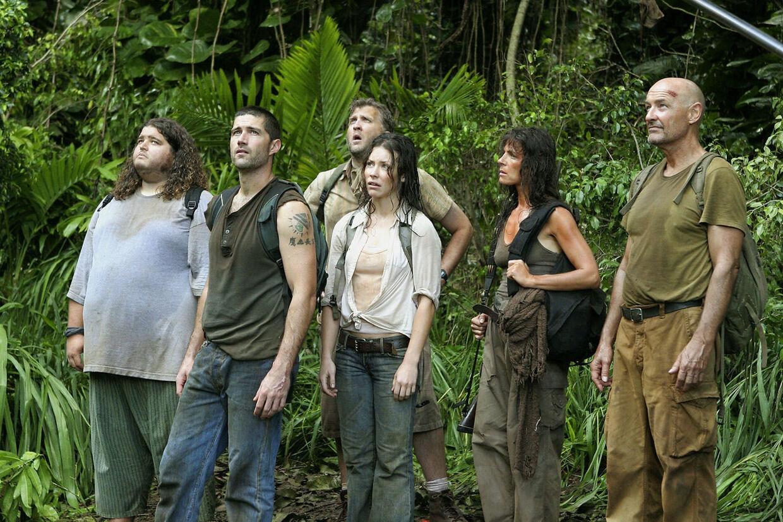 Jorge Garcia, Matthew Fox, Daniel Roebuck, Evangeline Lilly, Mira Furlan & Terry O'Quinn i 'Lost'.