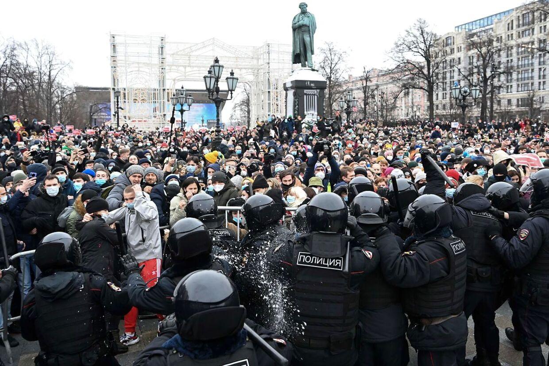 Sammenstød i Moskva.