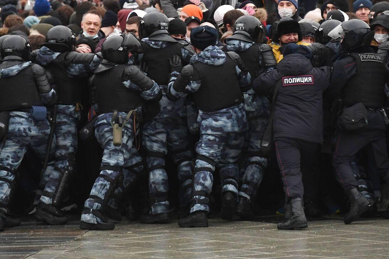 En af de mange voldsomme scener fra Moskva.